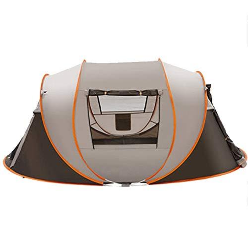 Zelten Family Camp Zelt Freien Außen 5-8 Personen Geschwindigkeit öffnet Automatische Zelt Wild Beach Camping-Zelt Set Regen Zelt Leichtes Camping (Color : As Shown, Size : One Size)
