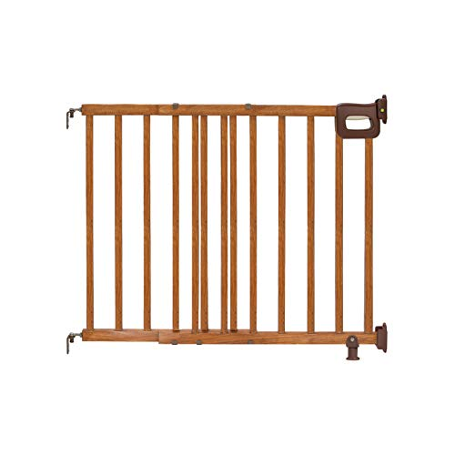 Summer Deluxe Stairway Simple to Secure Wood Gate, 30-48...