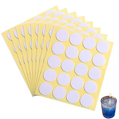 240 Piezas Pegatinas de Mecha de Vela, Adhesivas Resistentes al Calor de Hacer Velas, Pegatinas de Doble Cara para Suministros de Bricolaje de Velas