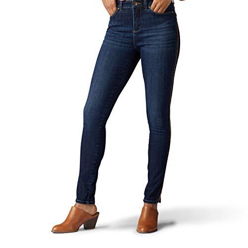 Lee Women's Sculpting Slim Fit Skinny Leg Jean, Waterloo Corded Side Seam, 10