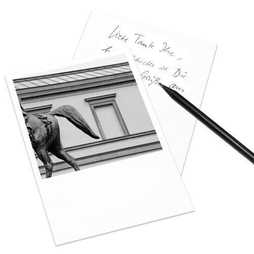 10er-Set Postkarte Stuttgart im Polaroid-Look - DIN A6 Hochformat - Motiv: Alte Staatsgalerie
