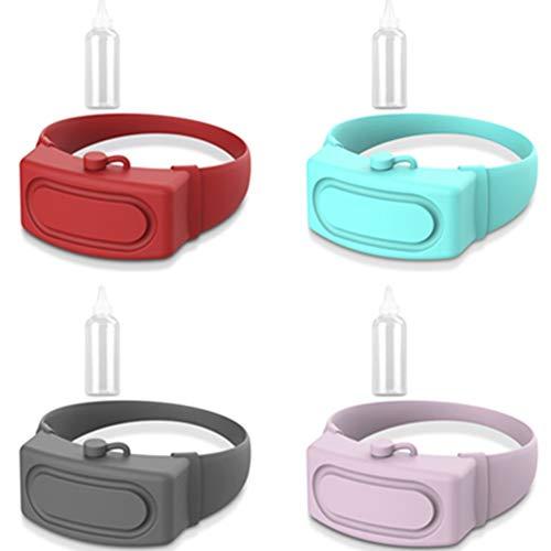 pzcvo Bracelet Antibacterien Bracelet Gel Hydroalcoolique Bracelet Désinfectant pour Les Mains Distributeur Random Color,4PCS