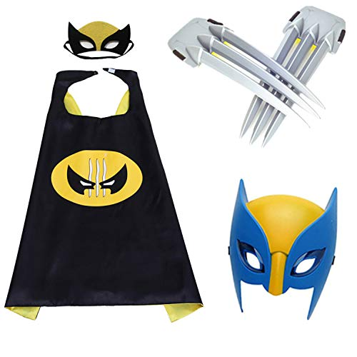 Comics Cartoon cape & Luminous Mask and claws dress up Costumes for kids party