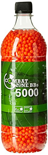Combat Zone Basic Selection Airsoft Munition Flasche, Rot, One Size