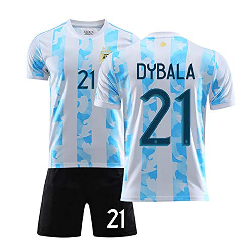 YANDDN 20-21 Argentinien Trikot Fußball Uniform Nationalmannschaft Uniform Erwachsenen Kinder Trainingsanzug-blue21-S