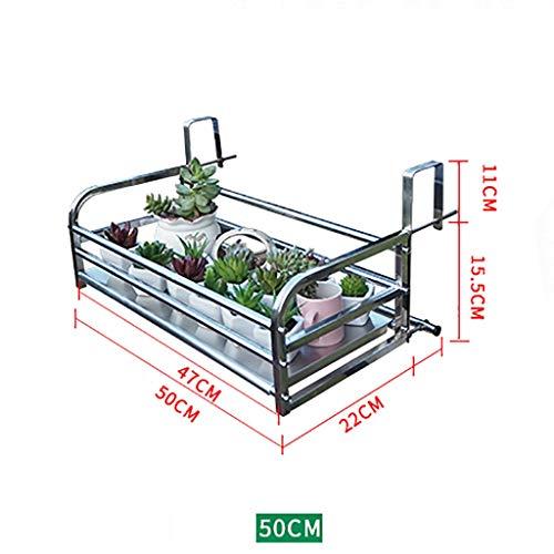 Étagères d'angle Support de fleur en fer, support de pot de fleur rectangulaire support de terrasse en plein air piste de pot de fleur garde-corps de balcon balcon cadre de fer cadre de clôture de bar
