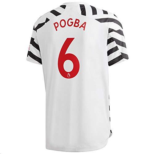 Jertinhf 2020-2021 Men's Third Soccer Jersey/Short Colour White (Manchester United Pogba #6 (S))
