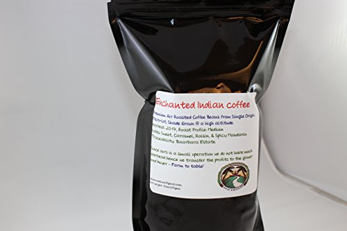 Enchanted Indian Coffee, Freshly Air Roasted Coffee Beans, Direct Trade, 10oz.