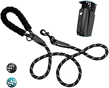 INTINI Dog Leash with Soft Padded Handle and Highly Reflective Threads