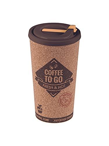 Tazza termica da caffè riutilizzabile, 500 ml, tazza termica portatile, grande, con coperchio, per portare in viaggio ed ufficio, con coperchio