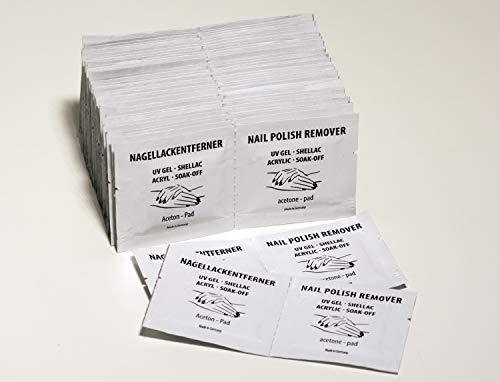 Aceton Pads Nagellackentferner-Tücher, 100 Stk.