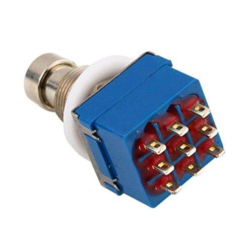 Vektenxi Gitarren Effektpedal Fußschalter 3PDT 9 Pins Effekt Gerätesteuerung für Gitarre Bass Verwenden 1 STÜCKE Blau Kreative und Nützliche