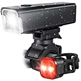 Super Bright Bike Light USB Rechargeable, LED Bicycle Headlight Front and Back Rear Tail Lights, IPX6 Waterproof, Easy to Install for Men Women Kids Cycling Safety Flashlight