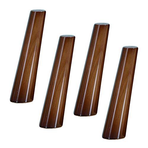 Pata de madera para muebles de cocina, 80 & deg;Pies de sofá de cono oblicuo, pata de mesa, patas de repuesto, para sillón reclinable, mesa de centro, aparador, aparador, 8-70 cm opcional (A18 cm / 7