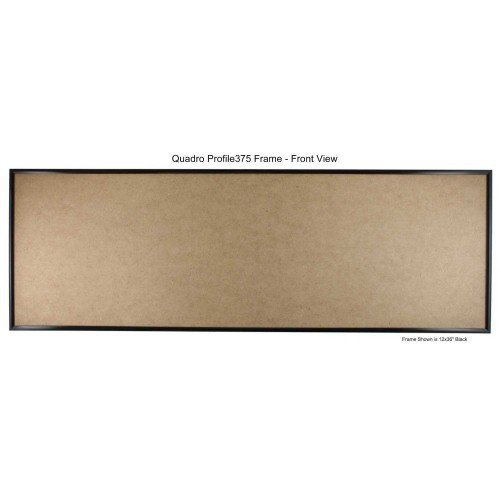 Quadro Frames 14x36 inch Picture Frame, Black, Style P375-3/8 inch Wide Molding