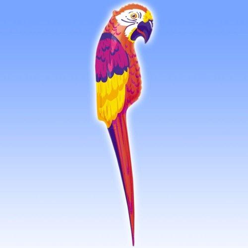 Perroquet de Décoration Gonflable Tropical Luau - 1,16m