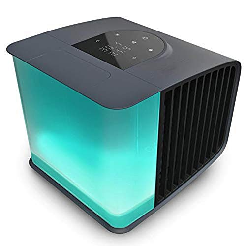 AWLLY Mini Mobile Klimaanlage Tragbar Luftbefeuchter Gürtel Fernbedienung Und Lüfterdrehzahl Controller Von Persönlicher Raum Luftkühler Und Luftreiniger Schwarz