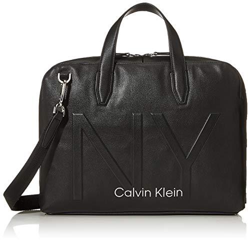 Calvin Klein - Shaped Laptop Bag, Organizadores de bolsos Hombre, Negro (Black), 0.1x0.1x0.1 cm (W x H L)