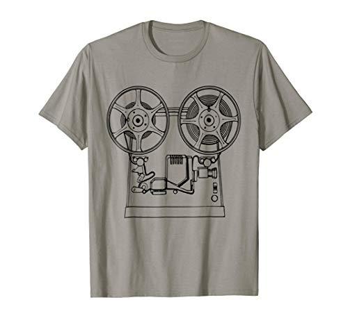 Vintage Retro Movie Projector T-Shirt Film Cinema Tee