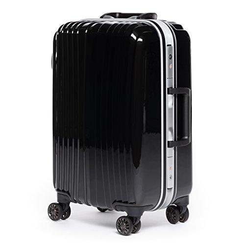 FERGÉ® Handgepäck-Koffer mit Alurahmen Bordeaux Trolley-Kabinengepäck Hartschale   Hartschalenkoffer mit 4 Zwillingsrollen (360°)   Koffer schwarz...
