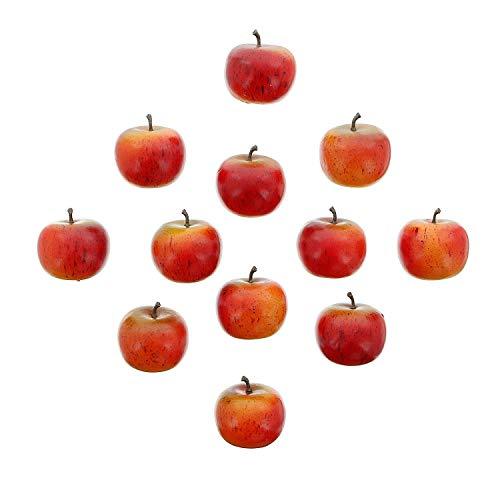 khevga Deko Apfel aus Kunststoff in rot 5 cm - 12er Set