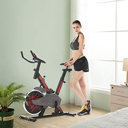 Shan-s Spinning Stationary Bicycle,Quiet Exercise Cycling Bike, Belt Drive Indoor Fitness Bicycle Ultra-Quiet Exercise Bike Home Gym Bicycle Fitness Equipment