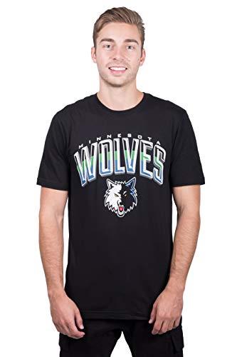 Ultra Game NBA Minnesota Timberwolves Mens Arched Plexi Short Sleeve Tee Shirt, Black, Large