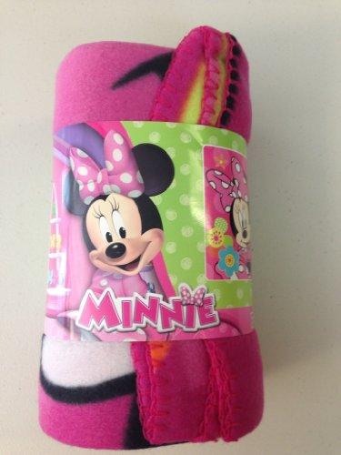 U.p.d. Inc Couvre-lit en polaire – Disney – Minnie Mouse – Fleur Pop 114,3 x 152,4 cm Couverture