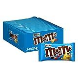 M&M's Choco Snack en Bolitas de Colores de Arroz inflado y Chocolate con Leche (24 bolsitas x 45g)