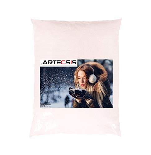 ARTECSIS 3 Liter Kunstschnee Dekoschnee zum Streuen und Basteln, Feiner Pulverschnee für Weihnachten Modellbau drinnen und draußen geeignet