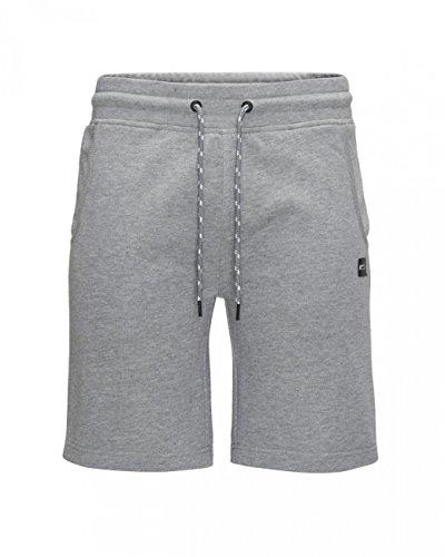 JACK & JONES Herren JCORUN Sweat NOOS Shorts, Grau (Light Grey Melange Fit:REG), 52 (Herstellergröße: L)