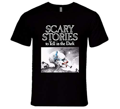 FUBAO T-shirt noir avec inscription « Scary Stories to Tell in The Dark » - Noir - Medium