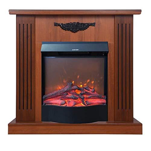 Art Flame, Chimenea eléctrica Smile marrón & Corsica, 1500 W, Control Remoto, Calefacción de superficie 15 m²