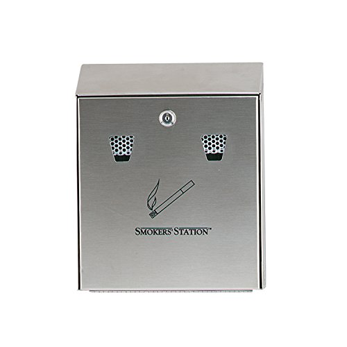 Rubbermaid Commercial Products FGR1012SS Smokers' Station, Stainless Steel