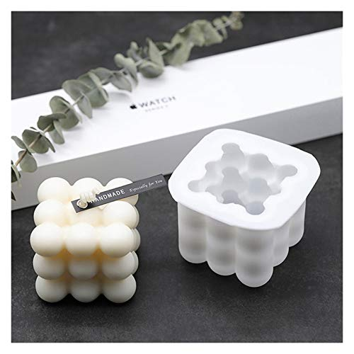 NGHSDO Candle Moulds Candles Mould 3D Wax Mould Aromatherapy Plaster Art Candles Holders Silicone Mold Crafts Making Candle Making (Color : 1)