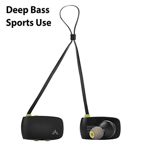 Avantee Sacool Bluetooth in Ear Earbuds with Mic for Music & Calls, Deep Bass, Lightweight & Super Comfortable Headphones, Noise Isolation, IPX4 Sweatproof Headset for Running, Hiking, Sports