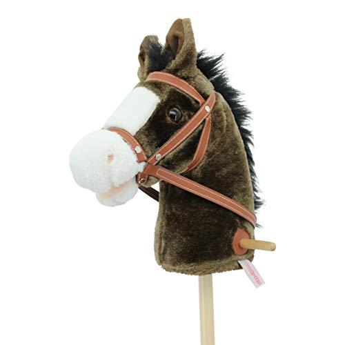 Sweety Toys- Caballo de Enchufe, Color marrón Chocolate. (5055)