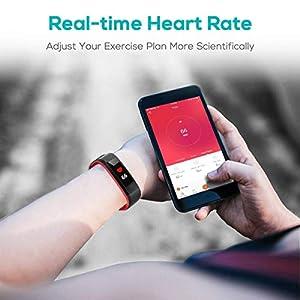 CHEREEKI Pulsera Actividad, Fitness Tracker IP68 Impermeable Monitor de Frecuencia Cardiaca 14 Modos de Ejercicio/Seguimiento del Sueño/Recordatorio Sedentario/SMS Push