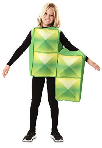 EUROCARNAVALES Disfraz de Tetris Verde Infantil 7 a 9 años