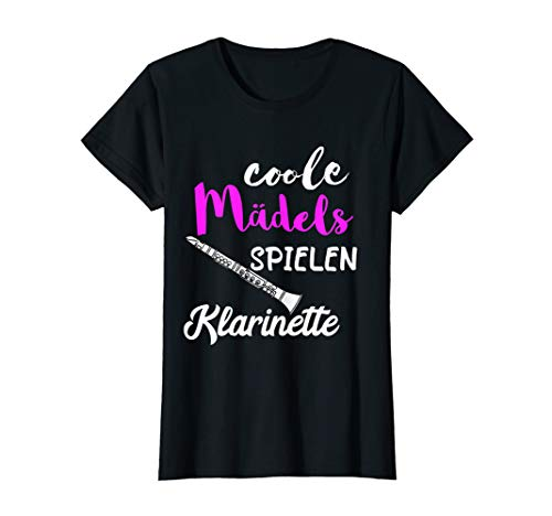 Coole Mädels Spielen Klarinette Klarinettist Musikschule T-Shirt