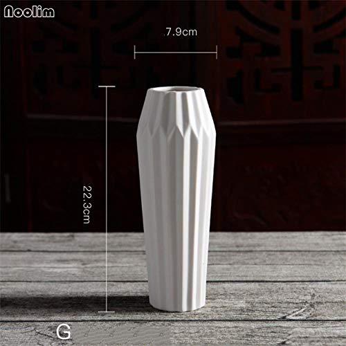 Vase Weiße Keramik Blumenvase Kreative Inneneinrichtung Tischvase Handgefertigte Kreative Wohnzimmer Blumenbehälter G.