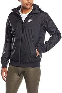 Mens Windrunner Hooded Track Jacket Black/Black/White 727324-010 Size 2X-Large