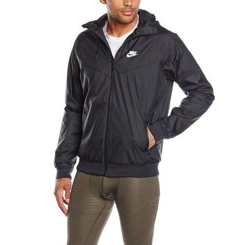Nike Mens Windrunner Hooded Track Jacket Black/Black/White 727324-010 Size 2X-Large