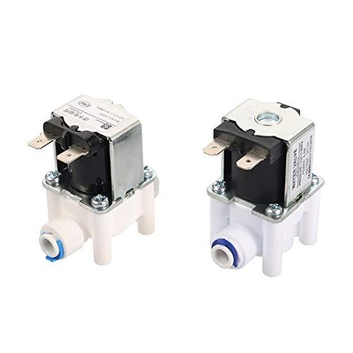 Conector rápido de la manguera Válvula de solenoide de agua eléctrica normalmente cerrada 1/4'Purificador de agua de acceso rápido DC 12V 24V Agua magnética Interruptor de flujo de entrada de agua
