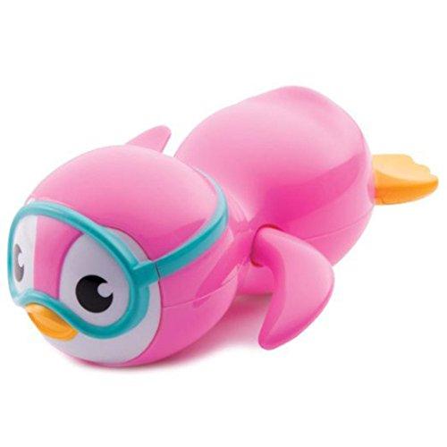 Pato, fundido Power Baby Baden juguete regalo reloj de buceo flotante Pingüino baño Float para niños pequeños Joven Chica, Kid educativas Agua Diversión Tiempo rosa Rosa