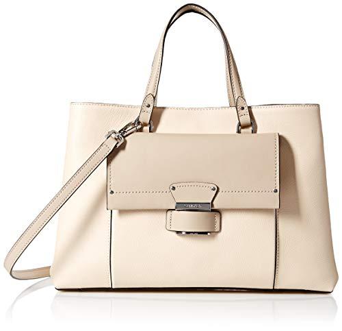 Calvin Klein Delancy Hermine Leather Organizational Satchel, sand combo