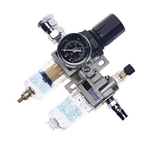 Duradero AC2010-02 Fuente de drenaje manual Bomba de aire Compresor de aire Regulador de filtro de aceite Regulador de agua neumático Separador de agua de dos piezas 0-1MPA 150PSI Fácil de operar