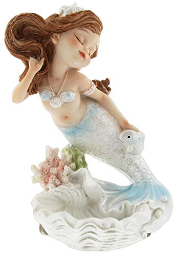 The Bridge Collection Mermaid & Shell Figurine/Jewelry Tray