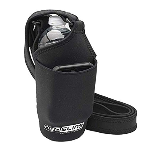H2O4K9 Neoprene Deluxe Bottle Carrier with Front Pocket (Black) …