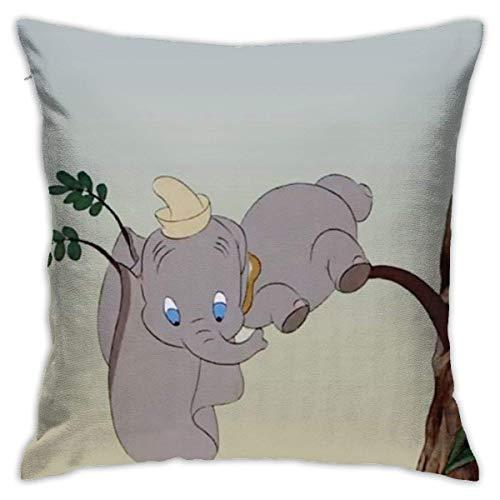 hongze Dumbo Pillowcase Covers 18x18 Decorative Sofa Car Soft